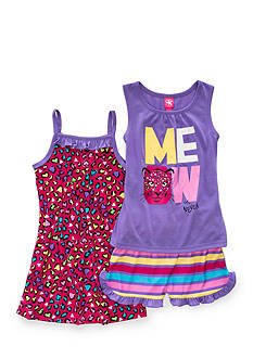 J. Khaki Animal Print 3-Piece Pajama Set Girls 4-16