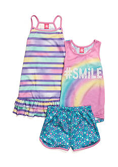 J. Khaki Rainbow Smile 3-Piece Pajama Set Girls 4-16