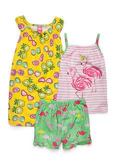 J. Khaki 3-Piece Flamingo Pajama Set Girls 4-16