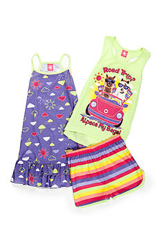 J. Khaki® Alpaca My Bags 3-Piece Pajama Set Girls 4-16