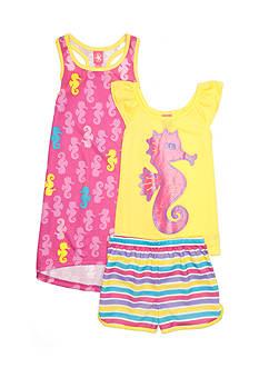 J. Khaki Seahorse 3-Piece Pajama Set Girls 4-16