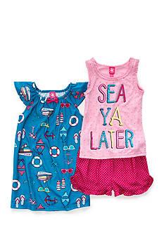 J. Khaki 'Sea Ya Later' 3-Piece Pajama Set Girls 4-16