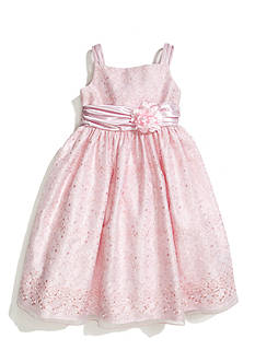 Picture Perfect by Sweet Heart Rose Floral Embroidered Overlay Flower Girl Dress Girls 4-6x