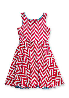 Bloome Chevron to Dot Multi Print Reversible Dress Girls 7-16