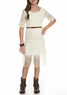 Bloome Lace Fringe Dress Girls 7-16