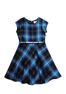 Bloome Plaid Tee Shirt Dress Girls 7-16