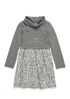Sweet Heart Rose Turtleneck Aztec Print Dress Girls 4-6x