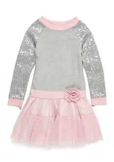 Sweet Heart Rose Sequin Tutu Top Girls 4-6x
