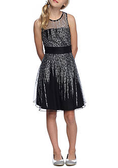 Bloome Sparkle A-Line Dress Girls 7-16