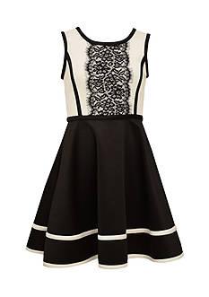 Bonnie Jean Scuba Lace Dress Girls 4-6x
