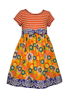 Bonnie Jean Floral Mixed Media Dress Girls 4-6x