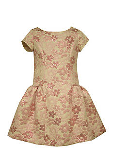 Bonnie Jean Floral Brocade Dress Girls 4-6x