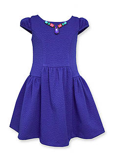 Bonnie Jean Jeweled Double Knit Dress Girls 4-6x