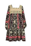 Bonnie Jean Boho Printed Dress Girls 4-6x