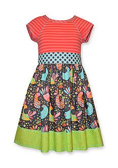 Bonnie Jean Stripe to Printed Knit Dress Girls 7-16