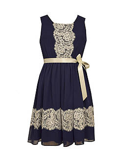 Bonnie Jean® Chiffon Lace Dress Girls 7-16