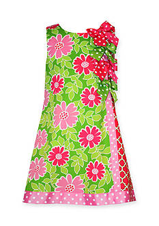 Bonnie Jean® Floral Geo Print Bow Shift Dress Girls 4-6x
