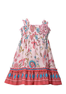 Bonnie Jean Butterfly Smock Dress Girls 4-6x