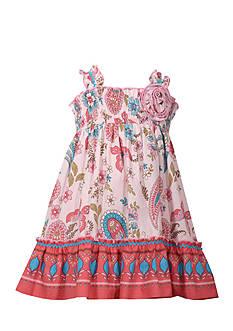 Bonnie Jean Butterfly Smock Dress Girls 4-6x