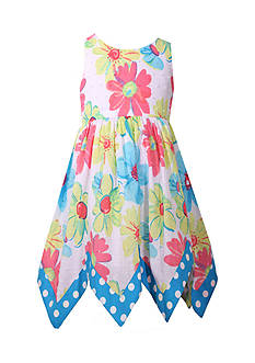 Bonnie Jean Floral Handkerchief Dress Girls 4-6x
