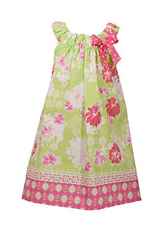 Bonnie Jean Floral Ruched Dress Girls 4-6x