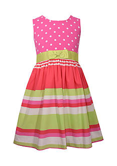 Bonnie Jean Knit Woven Dress Girls 4-6x