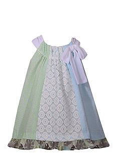 Bonnie Jean Seersucker Panel Dress Girls 4-6x