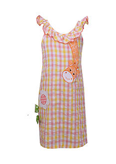 Bonnie Jean Giraffe Seersucker Dress Girls 4-6x