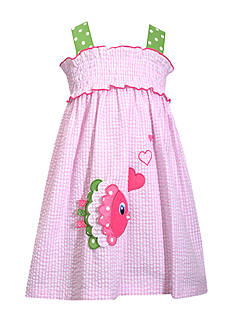 Bonnie Jean Fish Seersucker Dress Girls 4-6x