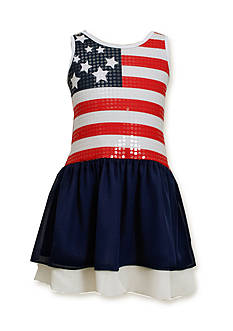 Bonnie Jean® Sequin Americana Drop Waist Dress Girls 7-16