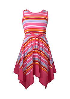 Bonnie Jean Striped Knit Dress Girls 7-16