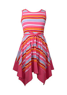 Bonnie Jean Striped Knit Dress Girls 7-16 Plus