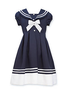 Bonnie Jean® Short Sleeve Nautical Dress Girls 4-6x
