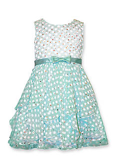 Bonnie Jean® Cascade Sheer Dot Dress Girls 4-6x