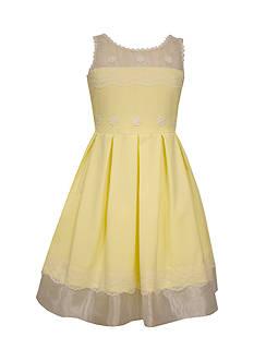 Bonnie Jean Illusion Linen Dress Girls 4-6x