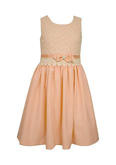 Bonnie Jean Floral Lace Linen Dress Girls 4-6x