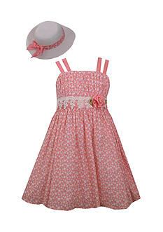 Bonnie Jean Rose Dress and Hat Set Girls 4-6x