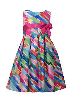 Bonnie Jean Watercolor Bow Dress Girls 4-6x