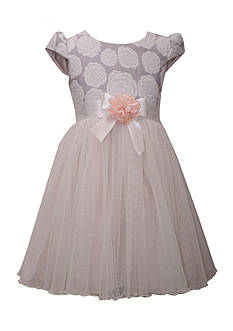 Bonnie Jean Rose Jaquard Dress Girls 4-6x