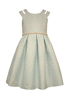 Bonnie Jean Patterned Jaquard Dress Girls 4-6x
