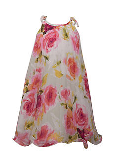 Bonnie Jean Floral Chiffon Dress Girls 4-6x