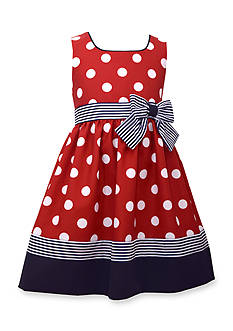 Bonnie Jean Sleeveless Ribbon and Bow Dot Dress Girls 4-6x