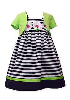 Bonnie Jean Stripe Dress and Cardigan Girls 4-6x