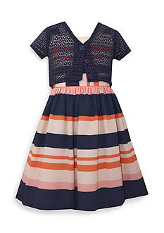 Bonnie Jean Sleeveless Dress With Cardigan Girls 4-6x