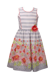Bonnie Jean Floral Striped Dress Girls 4-6x