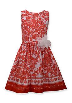 Bonnie Jean Floral Splash Print Dress Girls 4-6x