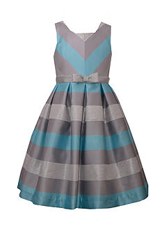 Bonnie Jean Chevron Striped Dress Girls 4-6x