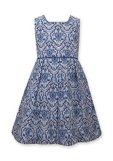 Bonnie Jean Poplin Print Dress Girls 4-6x