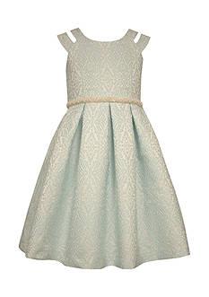 Bonnie Jean Patterned Jaquard Dress Girls 7-16