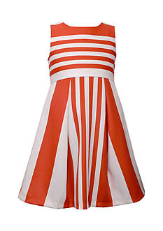 Bonnie Jean Striped Lenin Dress Girls 7-16